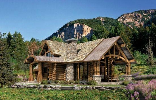 Cabana Din Lemn La Munte Din Lemn Si Piatra Log Cabin Floor Plans Log Home Floor Plans Log Home Designs