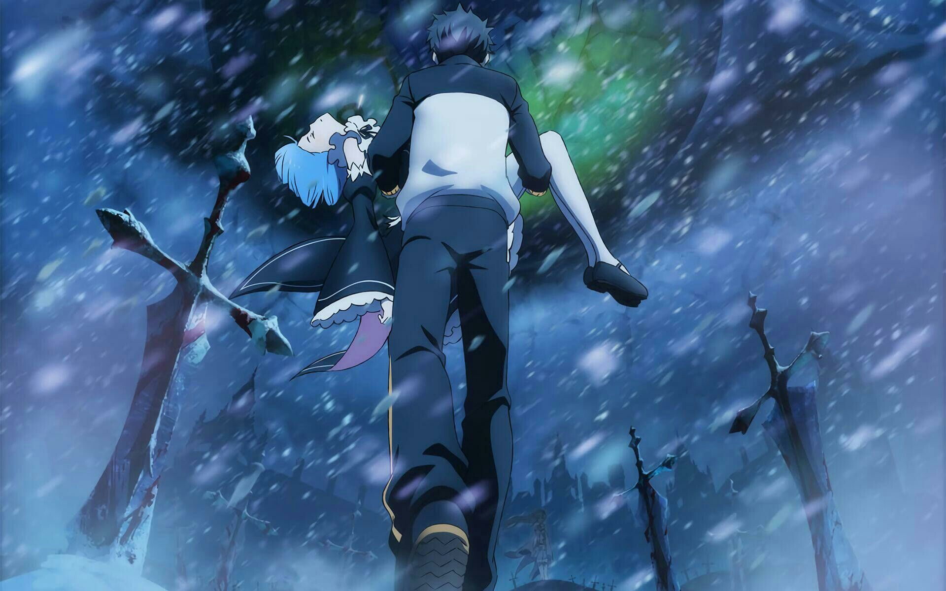 Subaru E Rem Anime Anime Hd Anime Background