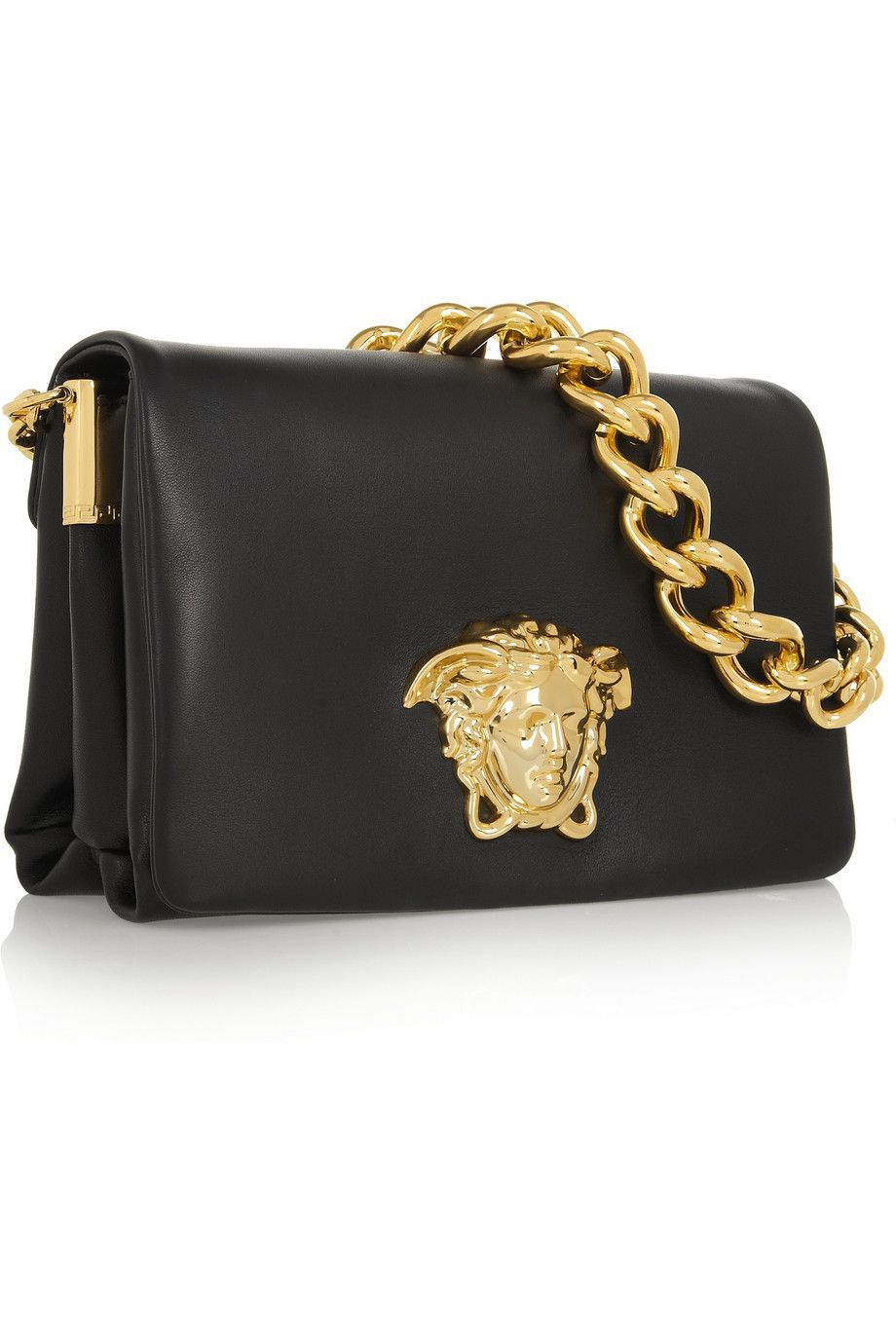 Versacehandbags Leather Shoulder Bag Bags Versace Handbags