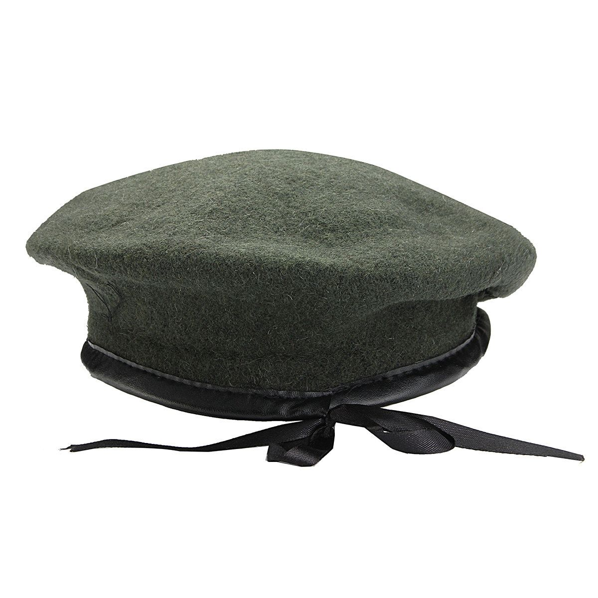 Men Women Military Soldier Army Hat Wool Solid Beret Beanie Cap ... 52dcdcb45b