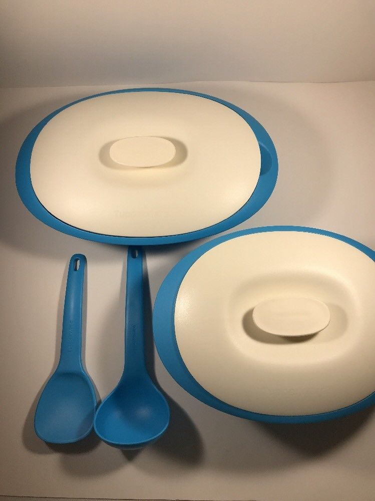 Tupperware Essentials Rice And Soup Servers With Ladle And Spoon New Ebay Tupperware Ladle Spoon