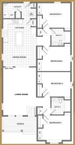 Floor Plan 4 Bedroom 2 Bath Needs Fireplace Floor Plan 4 Bedroom Floor Plans How To Plan