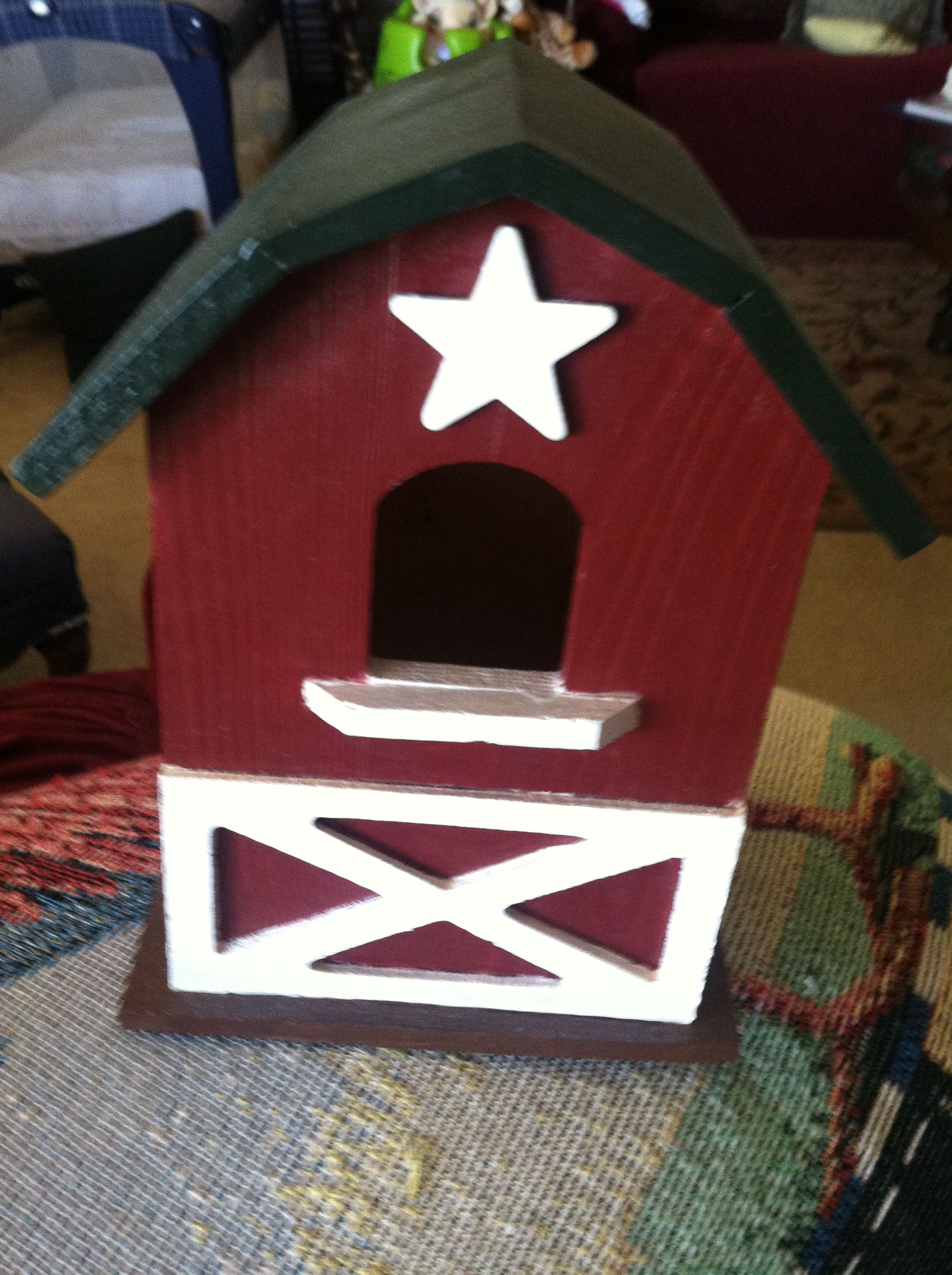 My daughter's Mother-In-Law likes barns so I did one for her.