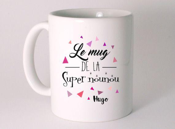 Bien-aimé LE MUG DE LA SUPER NOUNOU personnalisé avec le prénom de l'enfant  RL12