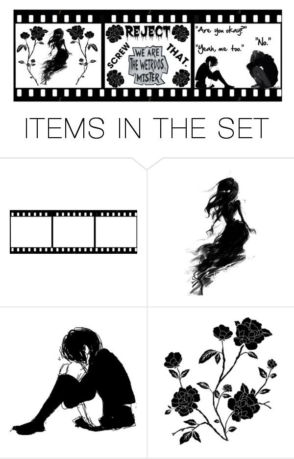 """""""Because I feel horrible about myself"""" by jeanie-boyd ❤ liked on Polyvore featuring art"""