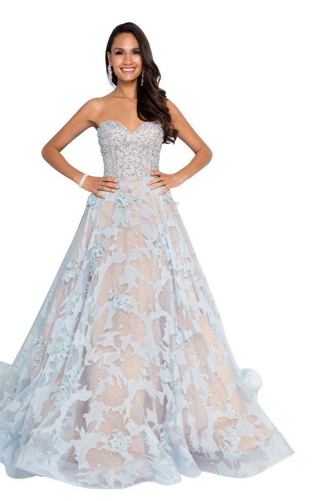 Terani P628 Prom Dress | Long prom dresses strapless, Prom