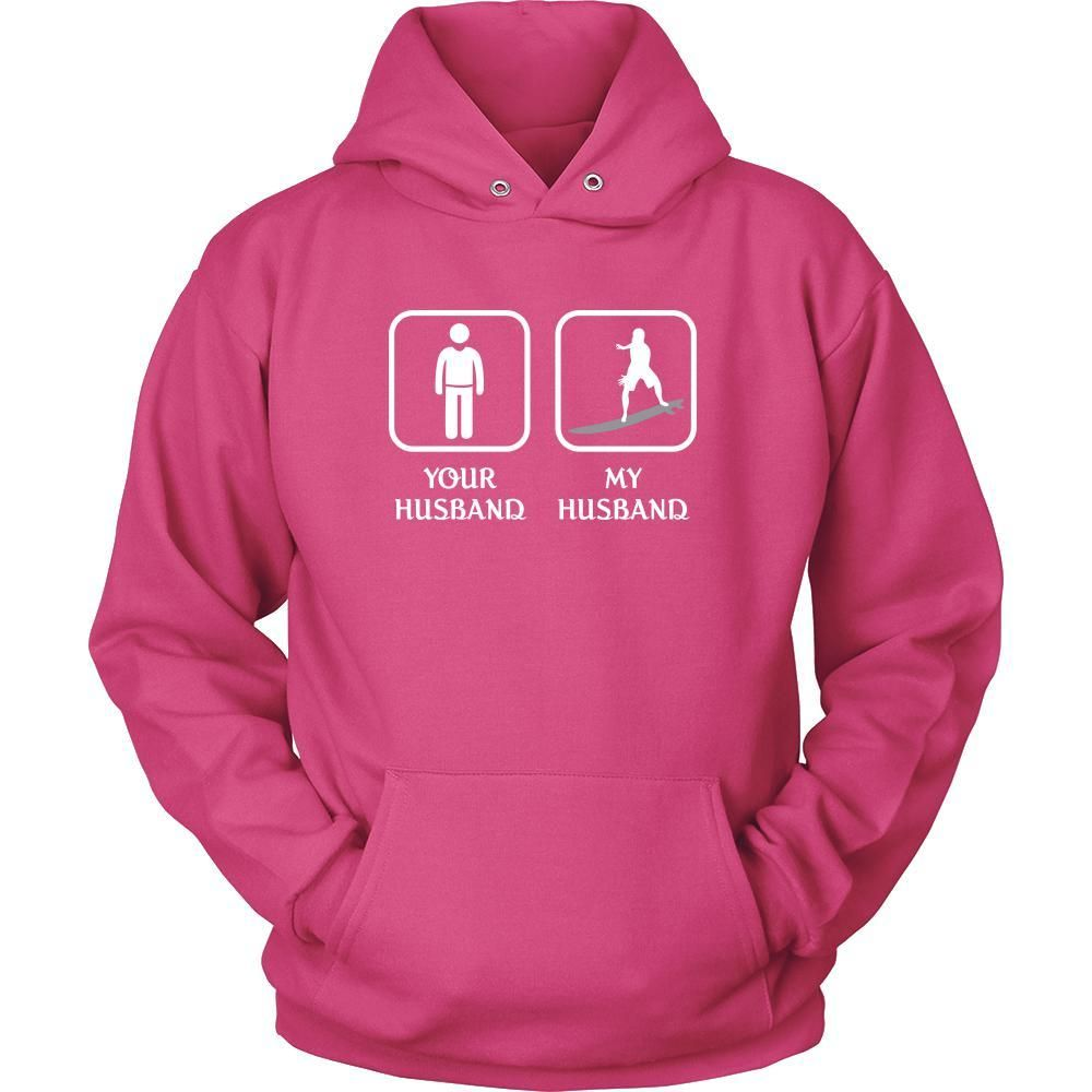 Surfing your husband my husband mothers day hobby shirt