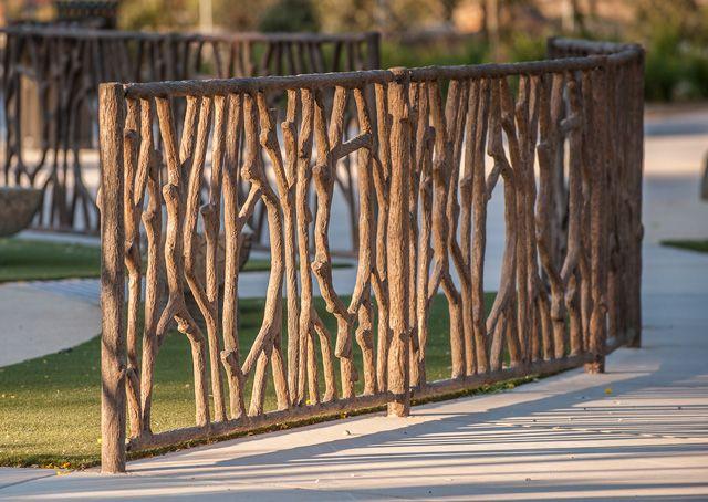 Tree Branch Playground Fence - Durable Decorative Concrete