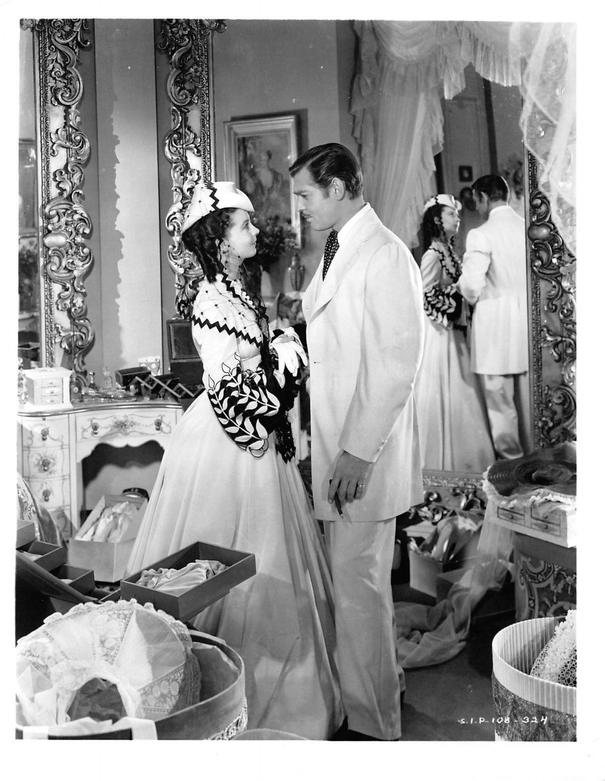 VIVIEN LEIGH & CLARK GABLE 6 superb GONE WITH THE WIND silver print photos #2