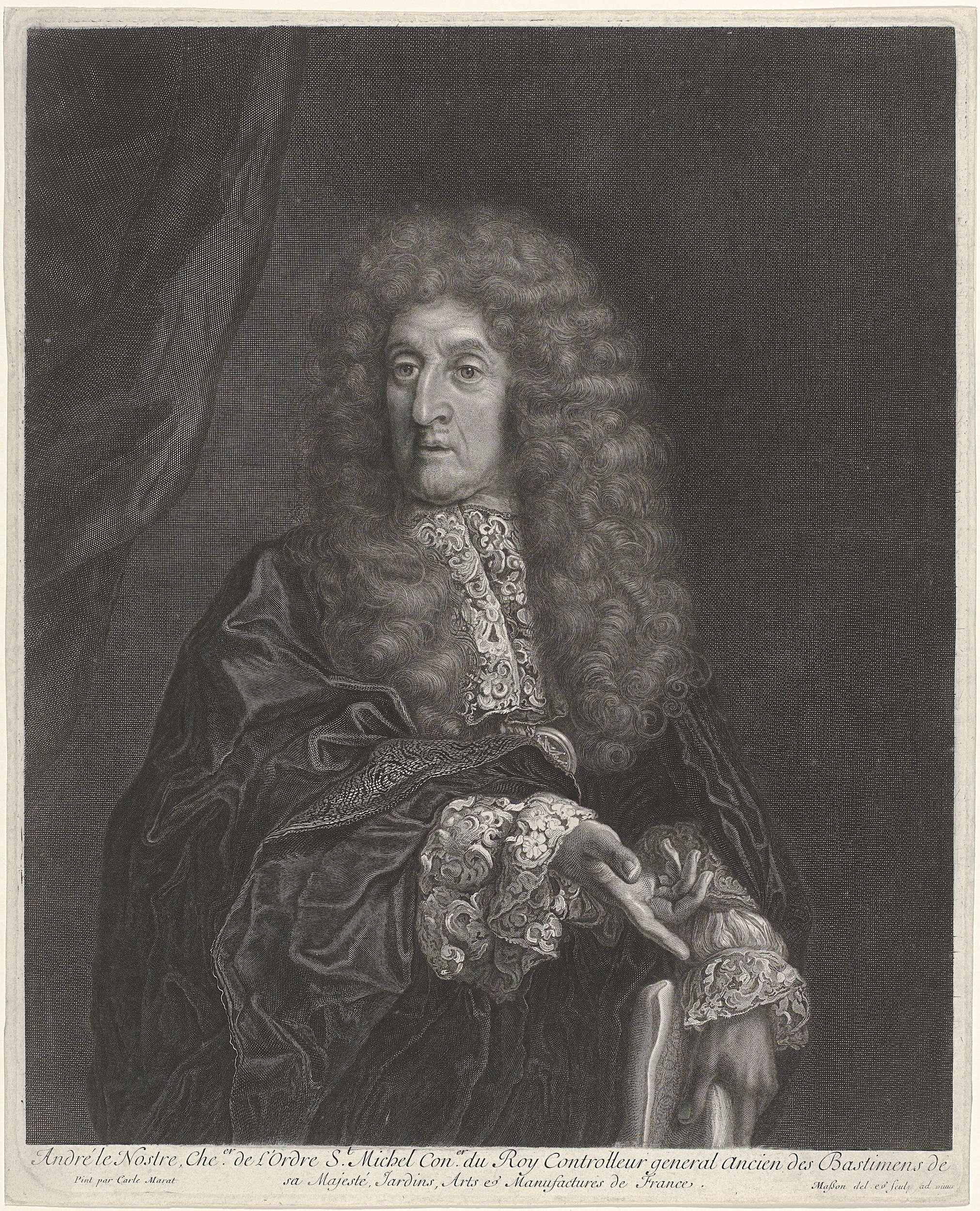 Antoine Masson | André Le Nostre, Antoine Masson, Carlo Maratti, 1646 - 1700 |