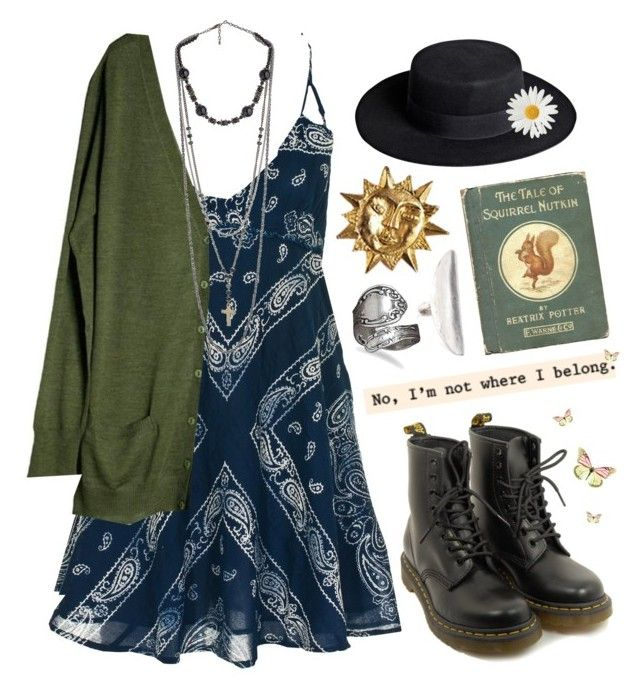 """""""Stay with me…Let's just breathe…"""" by golddustwomanxx ❤ liked on Polyvore featuring Denim & Supply by Ralph Lauren, MÃ¥nestrÃ¥le, By Malene Birger, West Coast Jewelry, Bing Bang, Docs, Sweater, artistic, Bohemian and alternative"""