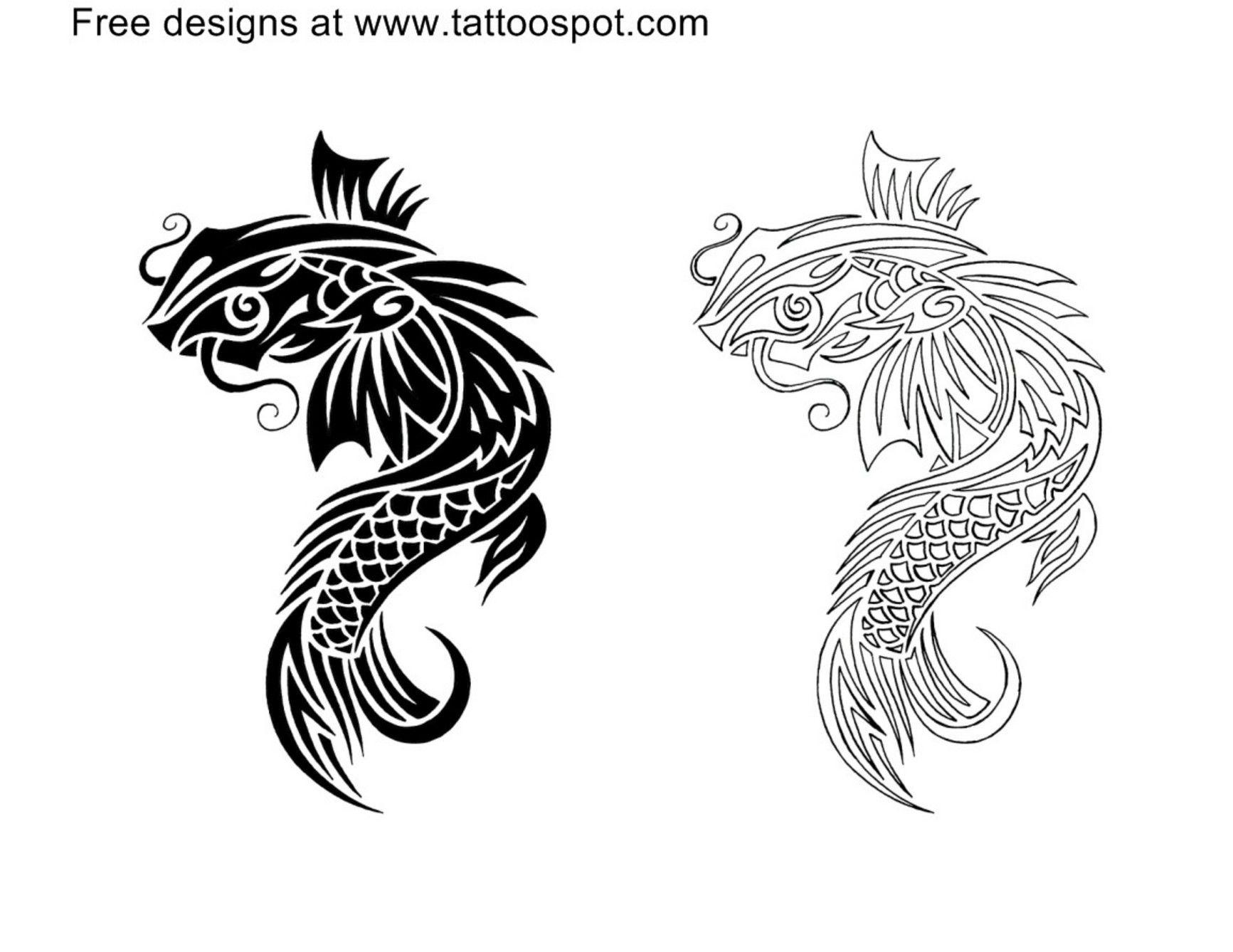 Cool Design Zen Pinterest Koi Fish Tattoo