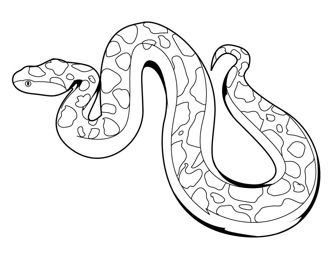 Snake Coloring Pages For Childrens