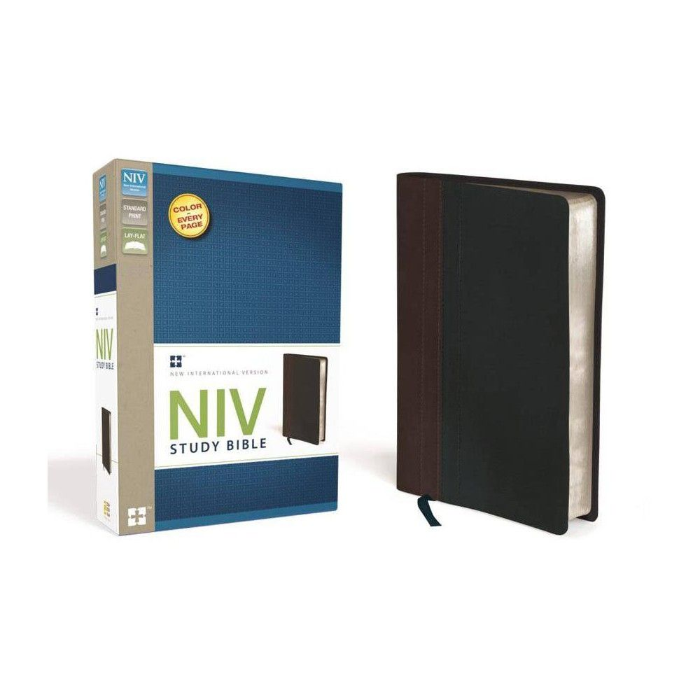 Study BibleNIV by Zondervan (Leather_bound) Niv study