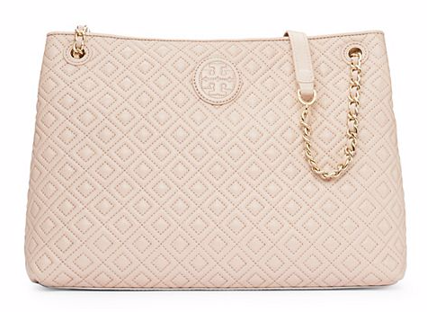 Quilted Tory Burch Beigh purse