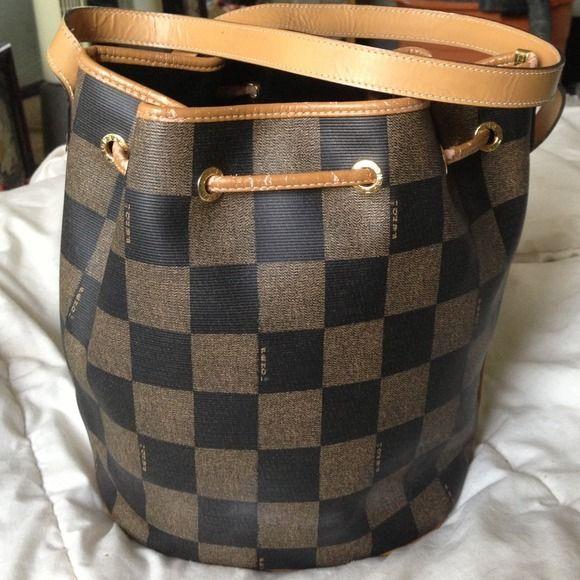 033943ab77a1 greece vintage fendi bucket bag e9171 ad2f6