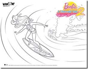 Barbie In A Mermaid Tale 2 Printables Bing Images Barbie Books Barbie Coloring Party Invite Template