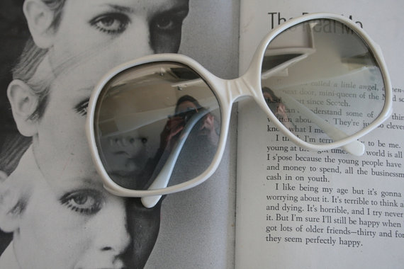 08a685c0f9 1960s JACKIE O Glasses..new old stock. classic. groovy. twiggy. mod. retro.  disco. gogo. made in ita