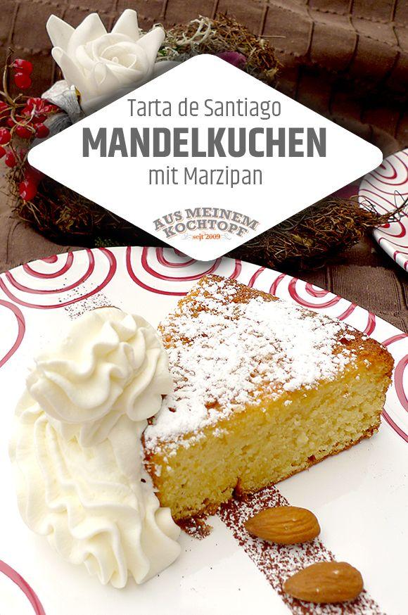 Mandelkuchen mit Marzipan - Tarta de Santiago