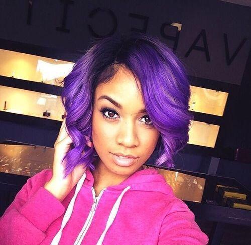 Tremendous African American Purple Hair Google Search Hair Pinterest Short Hairstyles For Black Women Fulllsitofus