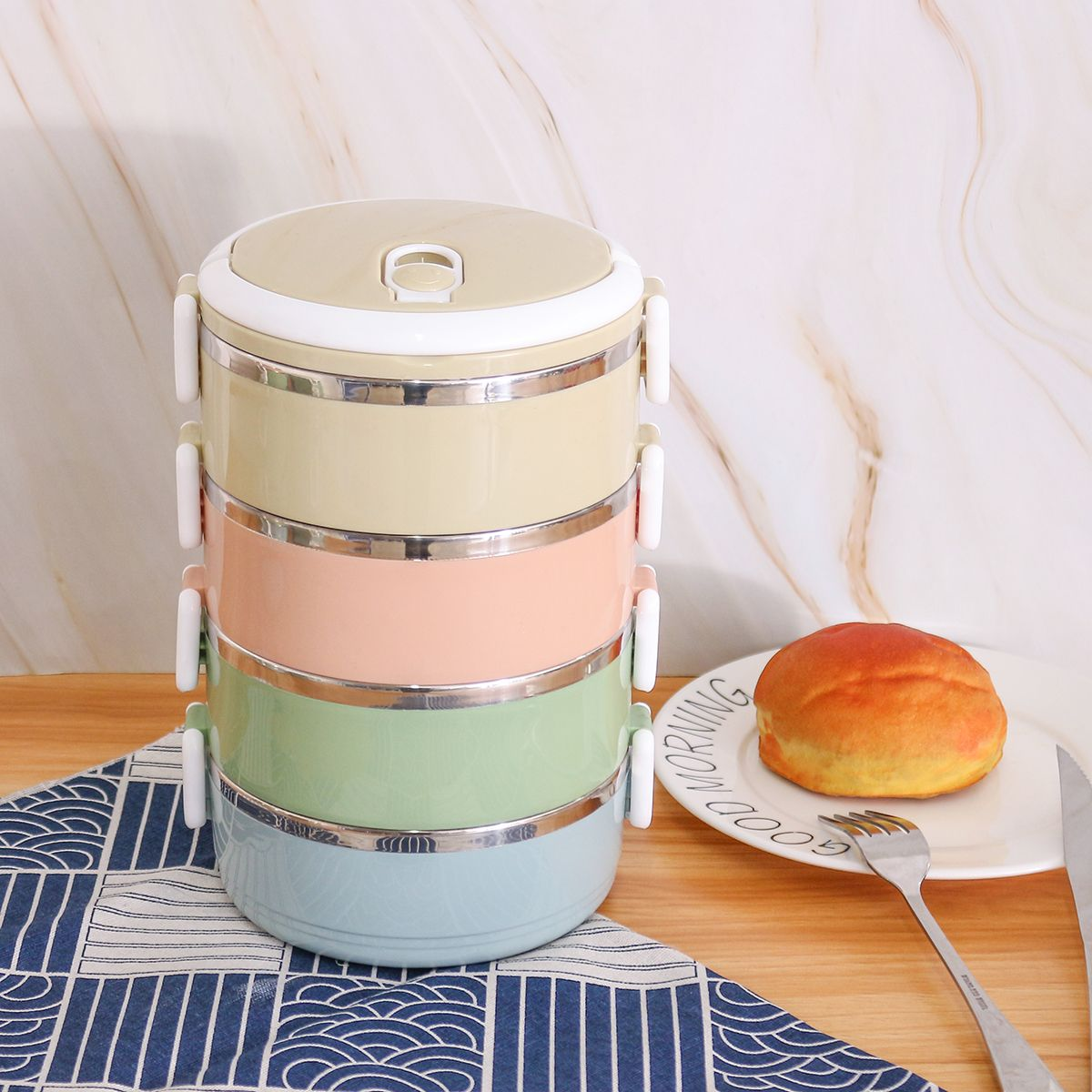 234 layers stainless steel lunch box round thermal