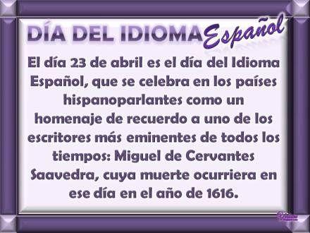 23 De Abril Dia Del Idioma Y Del Libro Dia Del Idioma Dia Del Idioma Español Dia Del Idioma Castellano