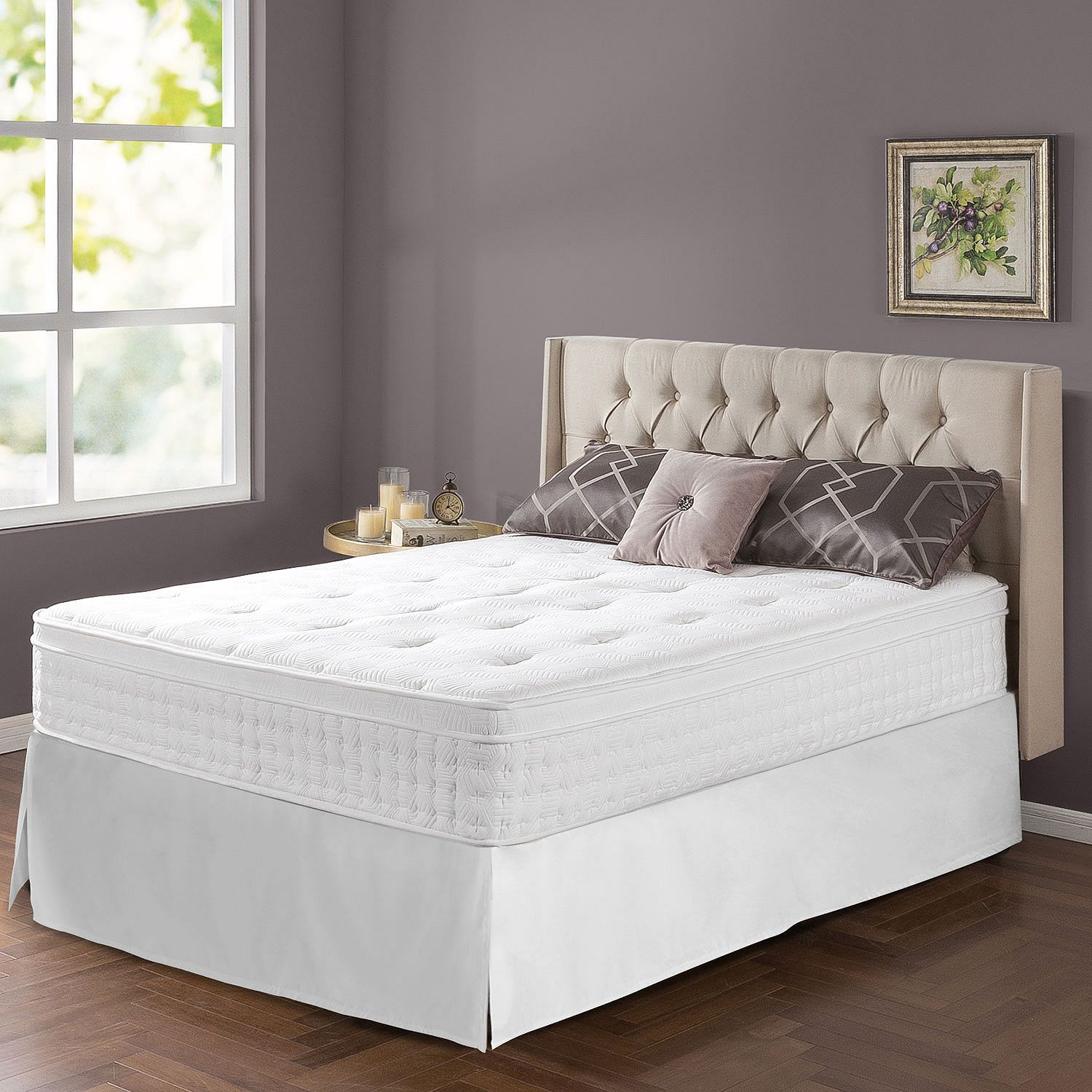 "Zinus Night Therapy iCoil 12"" Euro Boxtop Spring Mattress"