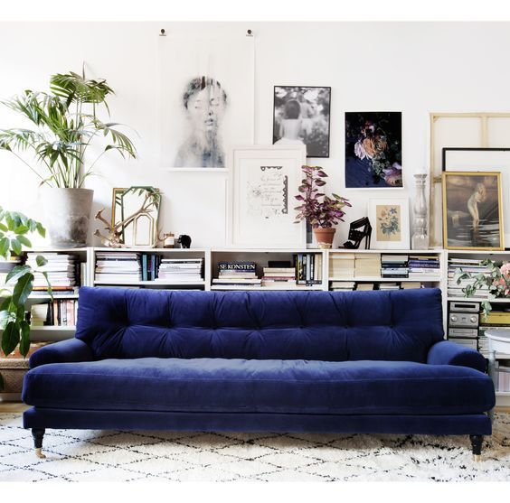 Seating Arrangements  The Velvet Touch Is It For You Captivating Blue Sofa Living Room Design Inspiration Design