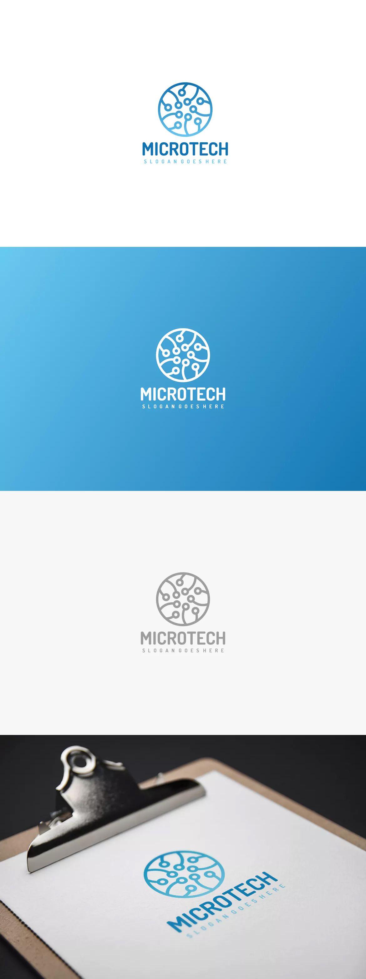 Micro tech logo by 3ab2ou on logo templates logo pen