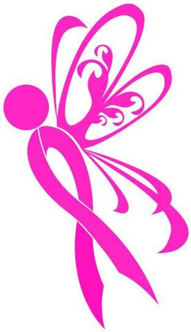e552ddc0f Breast Cancer Ribbon Butterfly - Vinyl Decal | Ladies | Breast ...