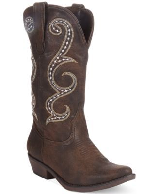a51d341d5 American Rag Dawnn Western Boots from Macy's #fashion #shoes #boots #macys # cowgirl #cowgirlboots