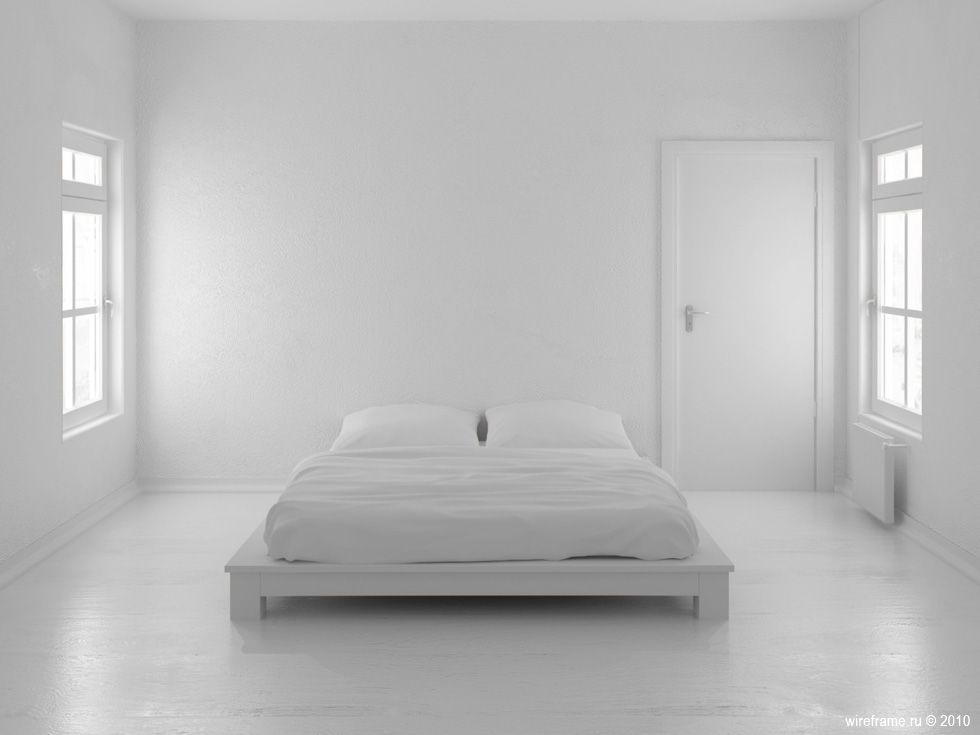 White Master Bedroom Scandinavian