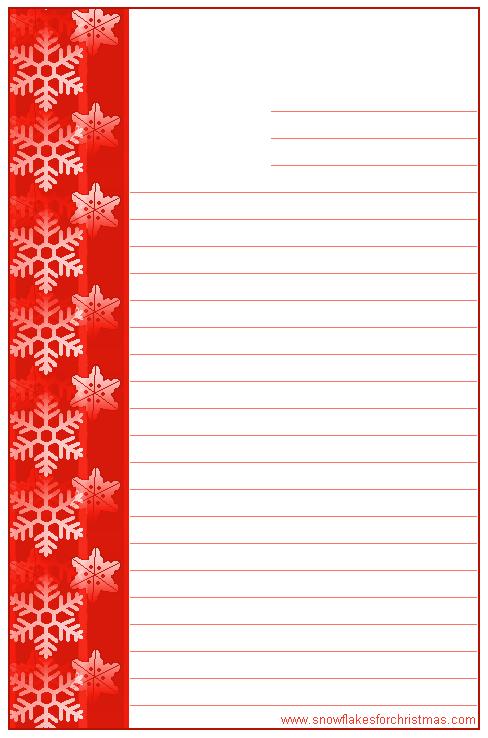 FREE Printable Christmas Snowflake Writing Paper | Christmas Stuff ...