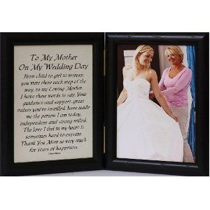 5x7 Hinged TO MY MOTHER ON MY WEDDING DAY Poem ~ Black Picture/Photo Frame ~ A Wonderful Gift Idea for the MOTHER OF THE BRIDE!