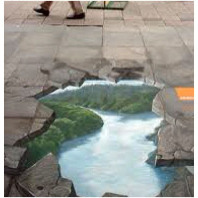 sidewalk chalk art   3D Sidewalk Chalk Art