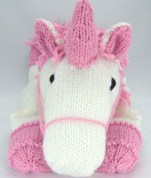 Suki the Unicorn Pyjama Case Knitting Pattern, Nightdress Case ...