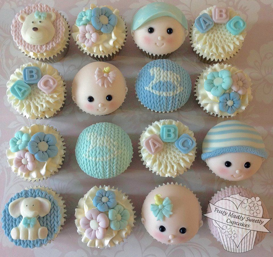 Baby shower cupcakes pinterest for Baby shower cupcake decoration ideas