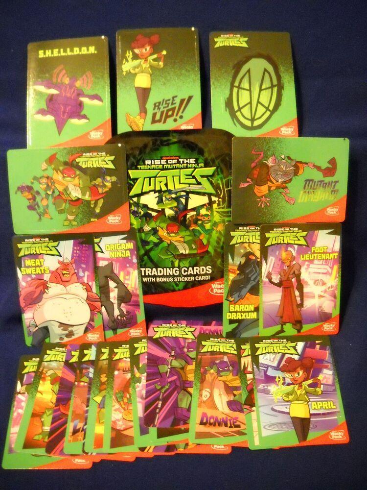 2018 Sonic Wacky Pack Rise Of The Teenage Mutant Ninja Turtles Trading Card Set Ninja Turtles Teenage Mutant Ninja Turtles Mutant Ninja Turtles