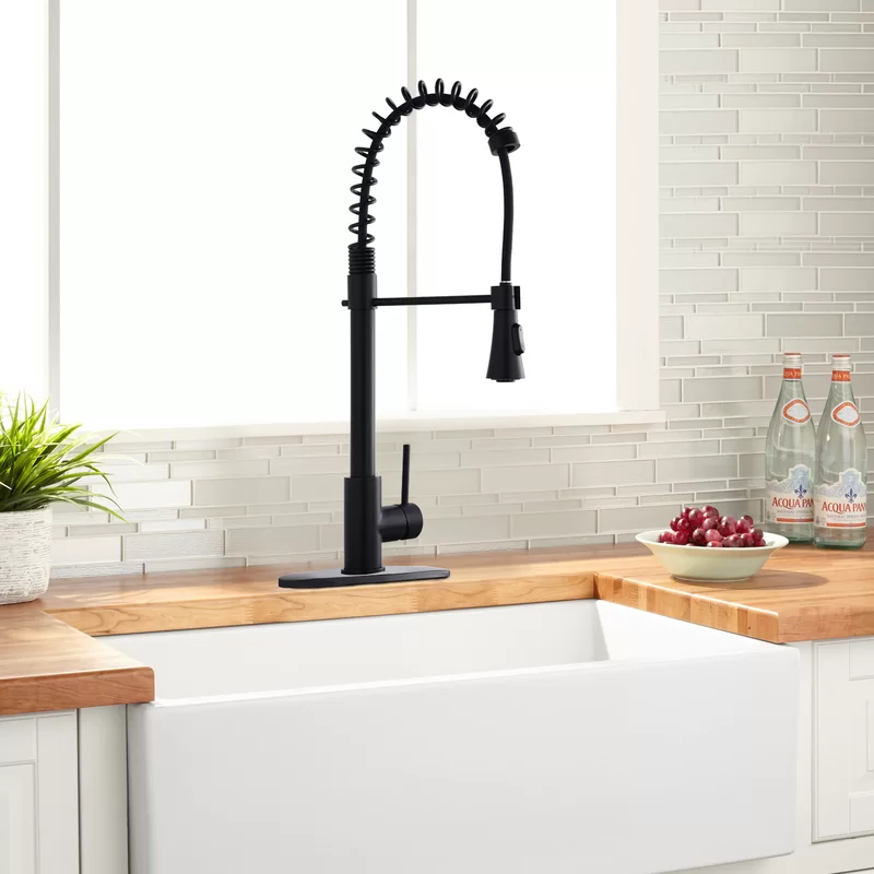 Spring Pull Down Touch Single Handle Kitchen Faucet In 2020 Single Handle Kitchen Faucet Kitchen Faucet Kitchen Handles