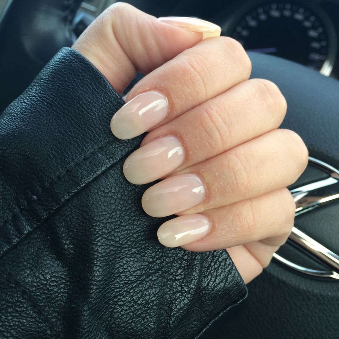 Nude, natural, round, oval, acrylic, gel, shellac, nails | nails ...