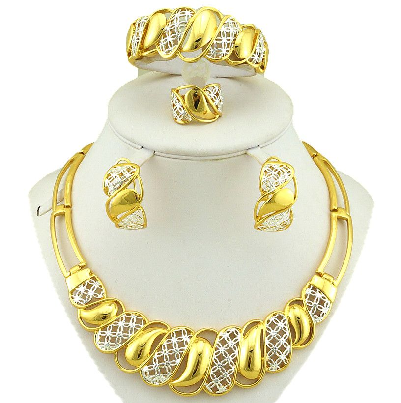 19++ Aliexpress gold plated jewelry sets viral