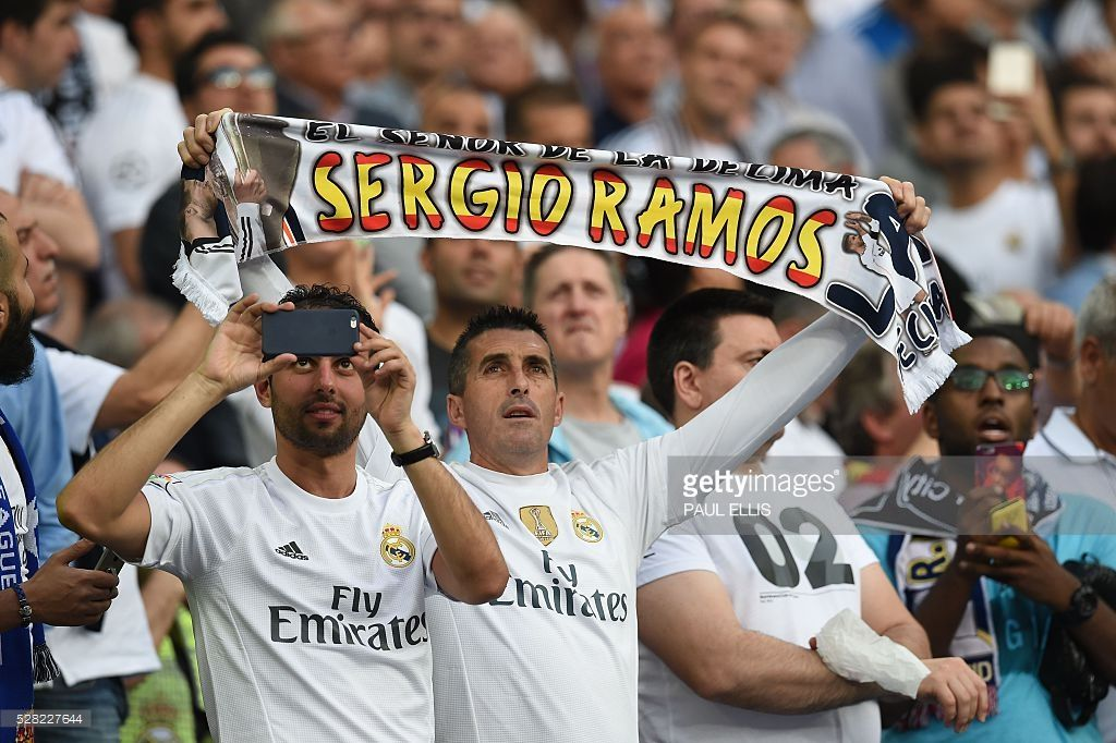 4d2775b6f A Real Madrid fan shows a scarf before the UEFA Champions League semi-final  second