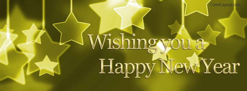 Wishing You A Happy New Year Facebook Cover coverlayout.com | Happy ...