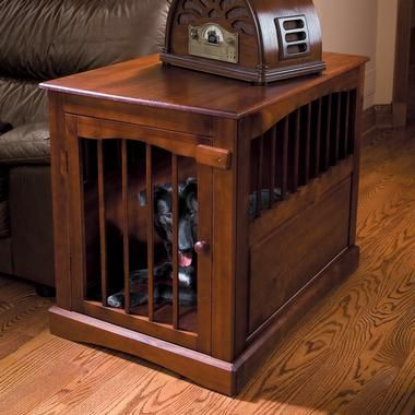Dog Crate End Table Plans For the Home Pinterest Dog crate