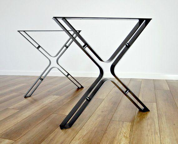 Metal Dining Table Legs Set Of 2 Steel Hairpin Table Legs