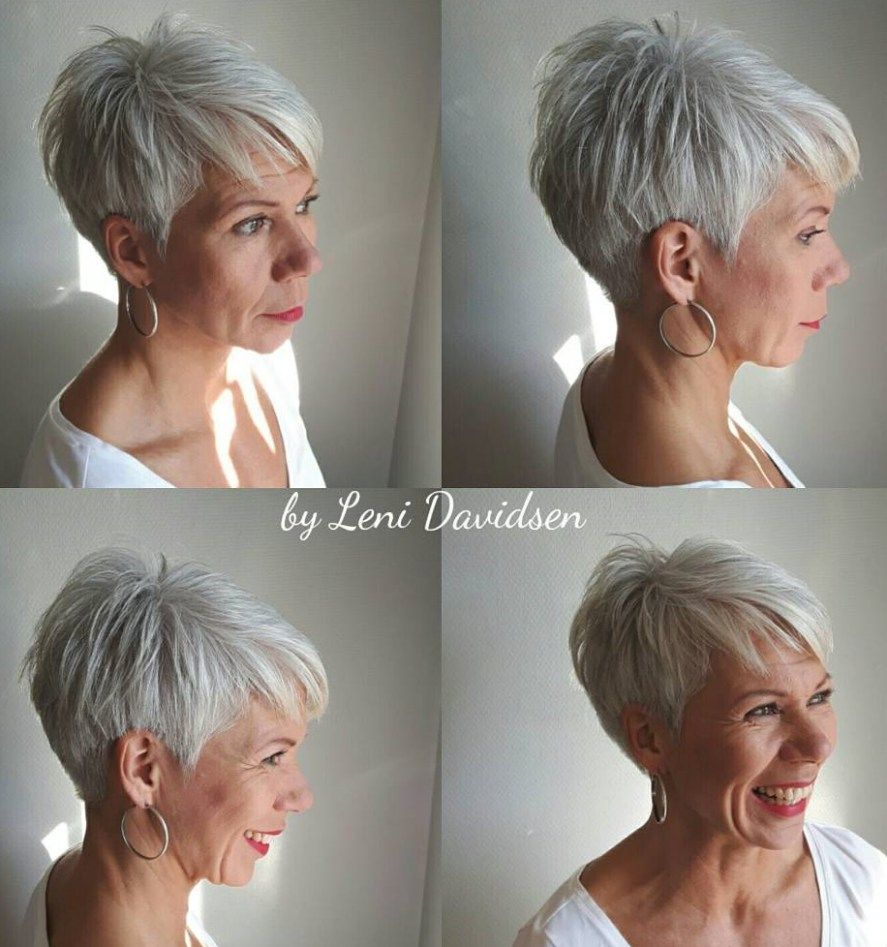 Tapered Silver Pixie For Women Over 60 Gorgeous Gray Hair Chic Short Haircuts Thick Hair Styles
