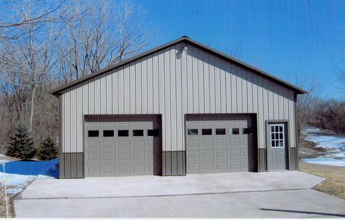 32 X 32 X 10 Garage At Menards Metal Garage Buildings Building A Garage Garage Style