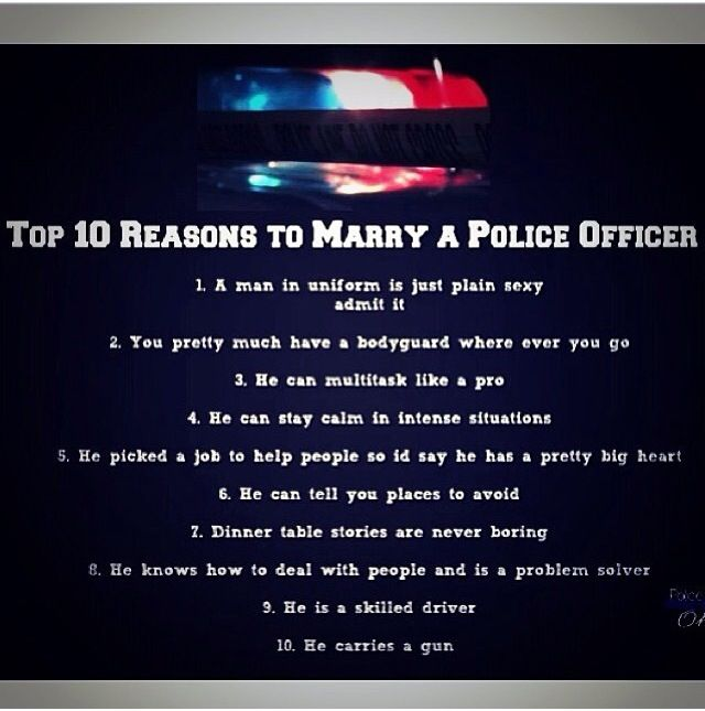 The good, bad and ugly of dating police officers