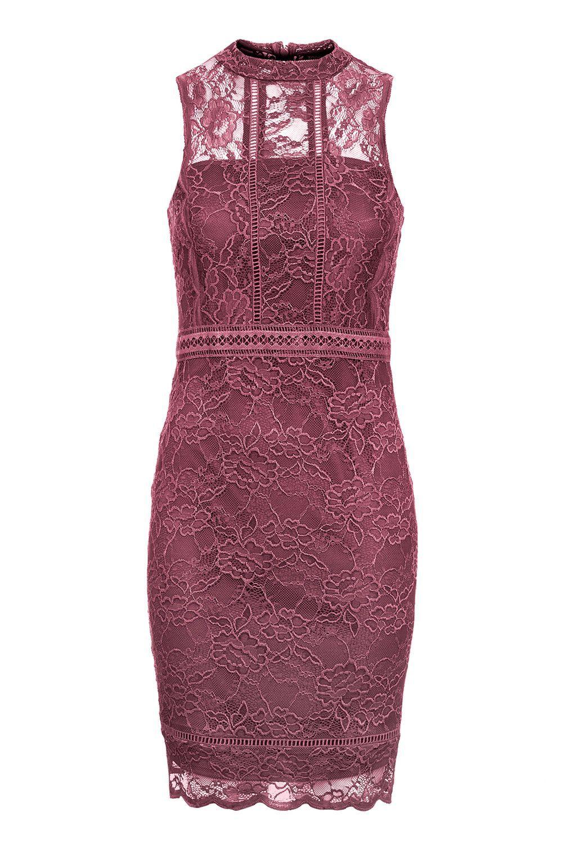 Lace Trim Bardot Mini Bodycon Dress by Rare - Topshop | Bodycon ...