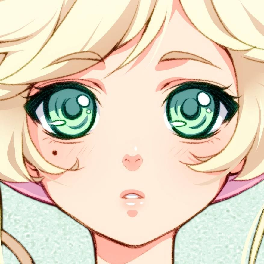 anime girl drawing - short hair